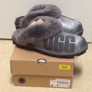 NWT Ugg coquette 8m fur slippers